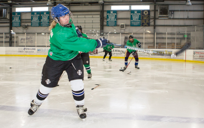 Give it 100: adult women's hockey players skillbuilding